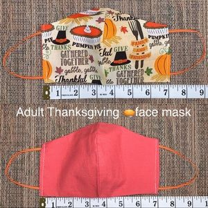 """Adult """"Give Thanks"""" Thanksgiving face mask"""